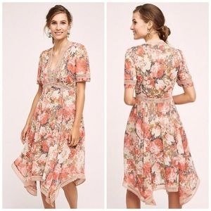 Ranna Gill Anthropologie Rose Dress 6P NWOT